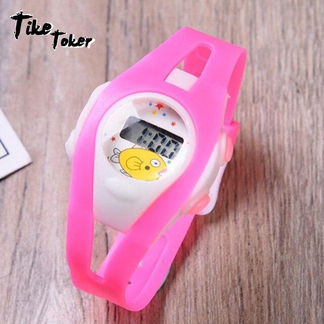TIke Toker,Fashion Casual Children Watches 50M Waterproof Quartz Wristwatches Je