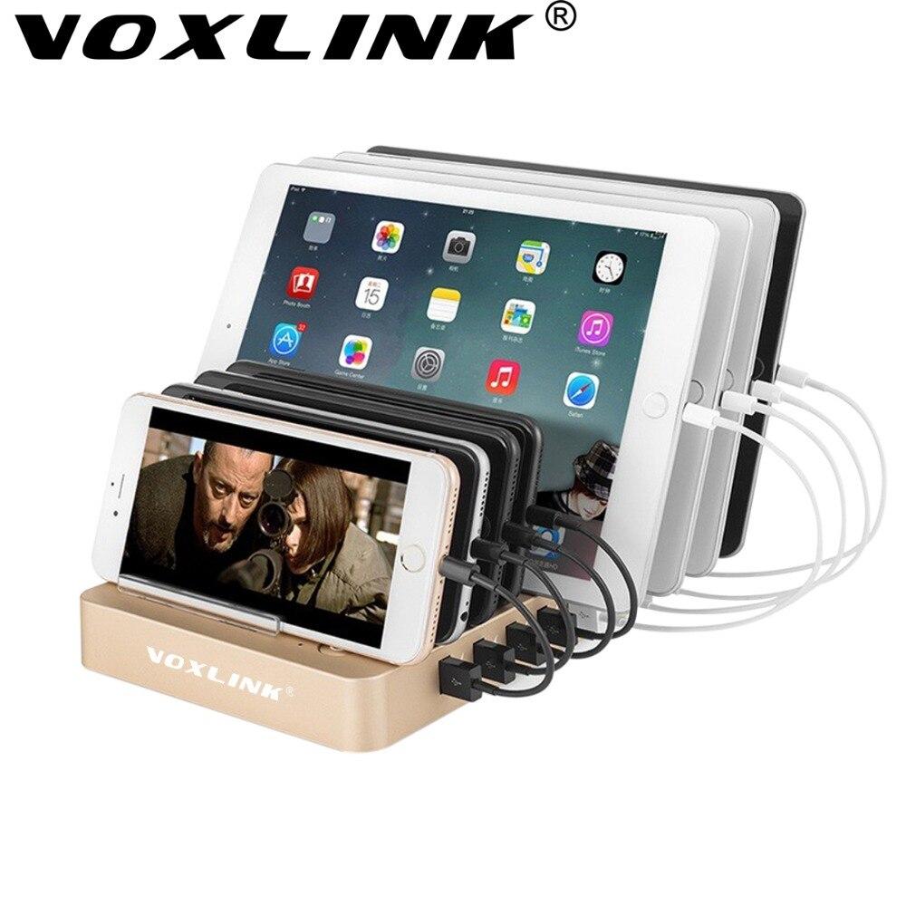 VOXLINK Quick Charge 3,0 8 Ports Ladestation 5 V 12A USB Desktop Ladegerät Mit Ständer Halter Für iPhone iPad Huawei LG Samsung