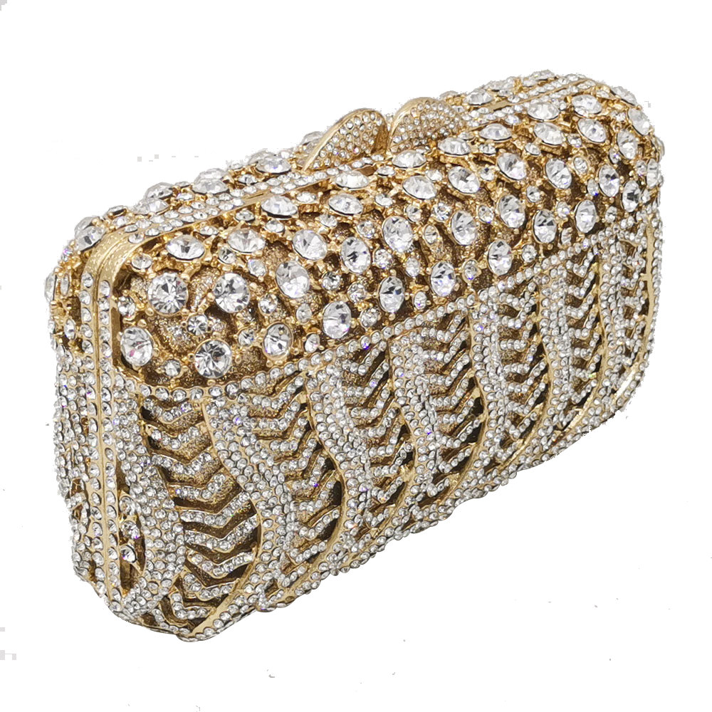 Boutique De FGG deslumbrante mujer cristal noche Minaudiere bolsas diamante boda monederos caja nupcial bolso De embrague Gala cena bolso-in Bolso de noche from Maletas y bolsas    2