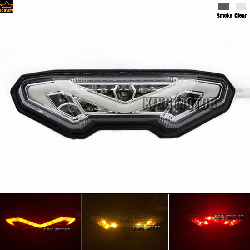 Hot Sale  Motorcycle Integrated LED Tail Light Turn signal Clear  For YAMAHA MT-09 FZ-09 2014-2015, MT09 Tracer 2015-2016 crash bar mt 09