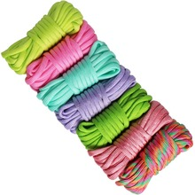 7pcs Paracord Bracelet Cord Lifeline Parachute Rope Outdoor Survival Safe Rope Set DIY Hand Woven Hiking Accessories 3m outdoor emergency surviving quick release parachute hand rope cord bracelet w whistle blue