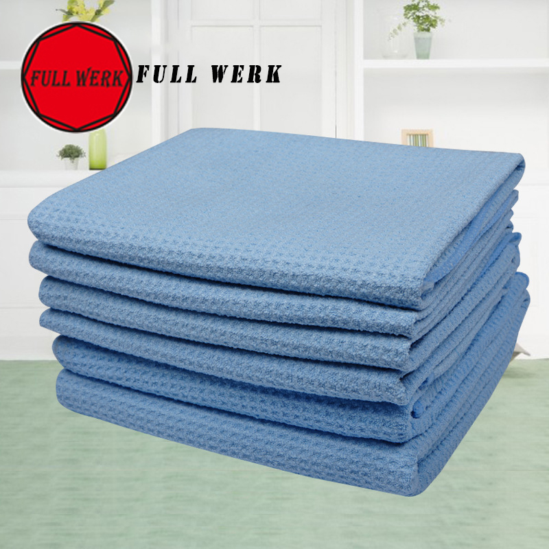 1PC 80x60cm Blue Microfiber Car Cleaning Towel High-efficient Suck Water Cloth Duster Washer Tool Home Office Auto Accessories
