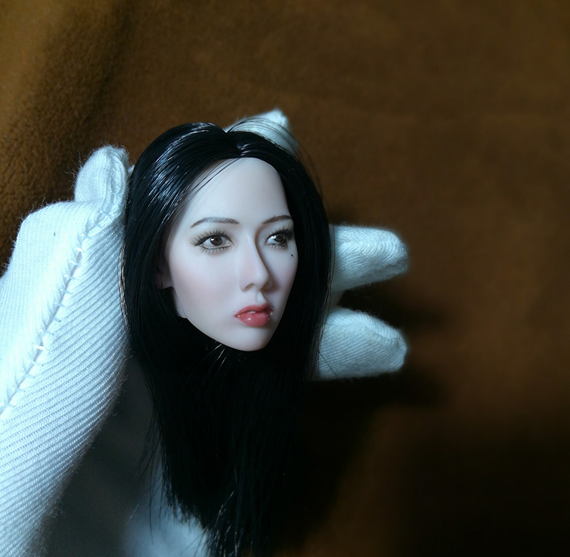 1/6 Famous Star Kim Hyun Black and Blond Hair Head for 12''Bodies
