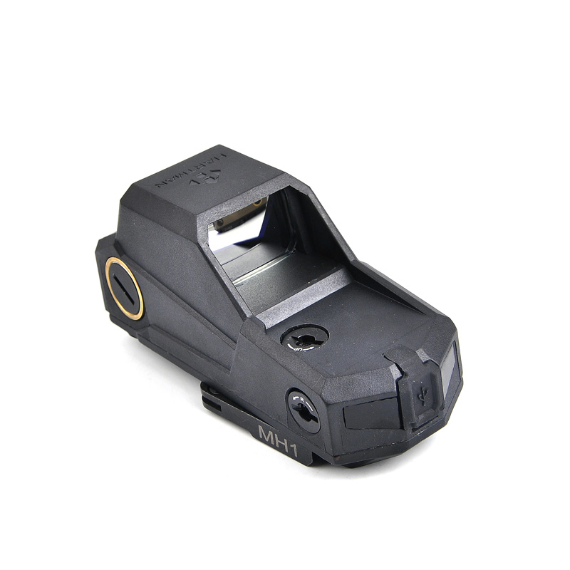 MH1 Tatical Holographique Red Dot Sight Double Mouvement Capteur Reflex Vue Plus Grand Champ Vue Rapide Détacher Mont Rechargeable