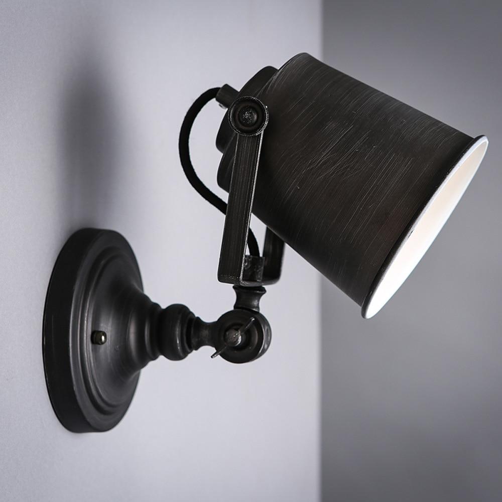 Nordic Vintage Industrial Wall Lamp Classic Black Art