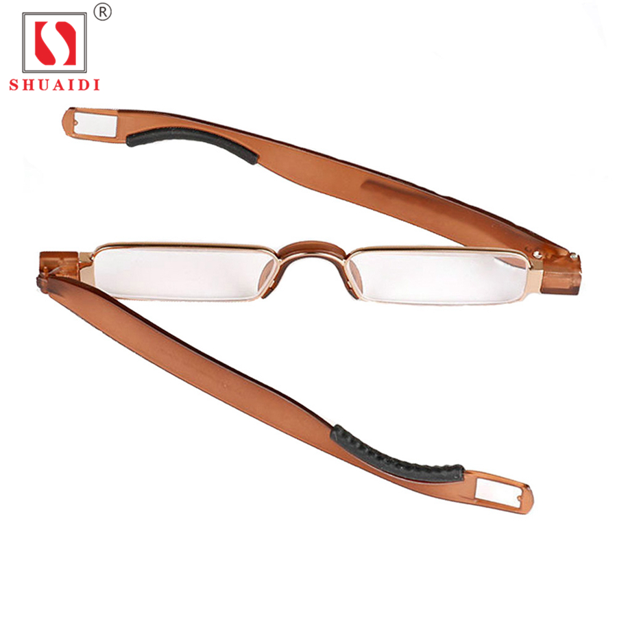 904a861b581d Portable 360 Degree Rotation Folding Reading Glasses Men Women Foldable  Glass Presbyopic Glasses +1.0 to+4.0