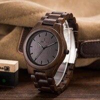 Fashion Watches Men Design Wood Watch Japanese Quartz 2035 Movement Men`s Natural Sandal Wooden Wristwatches Relogio Masculino