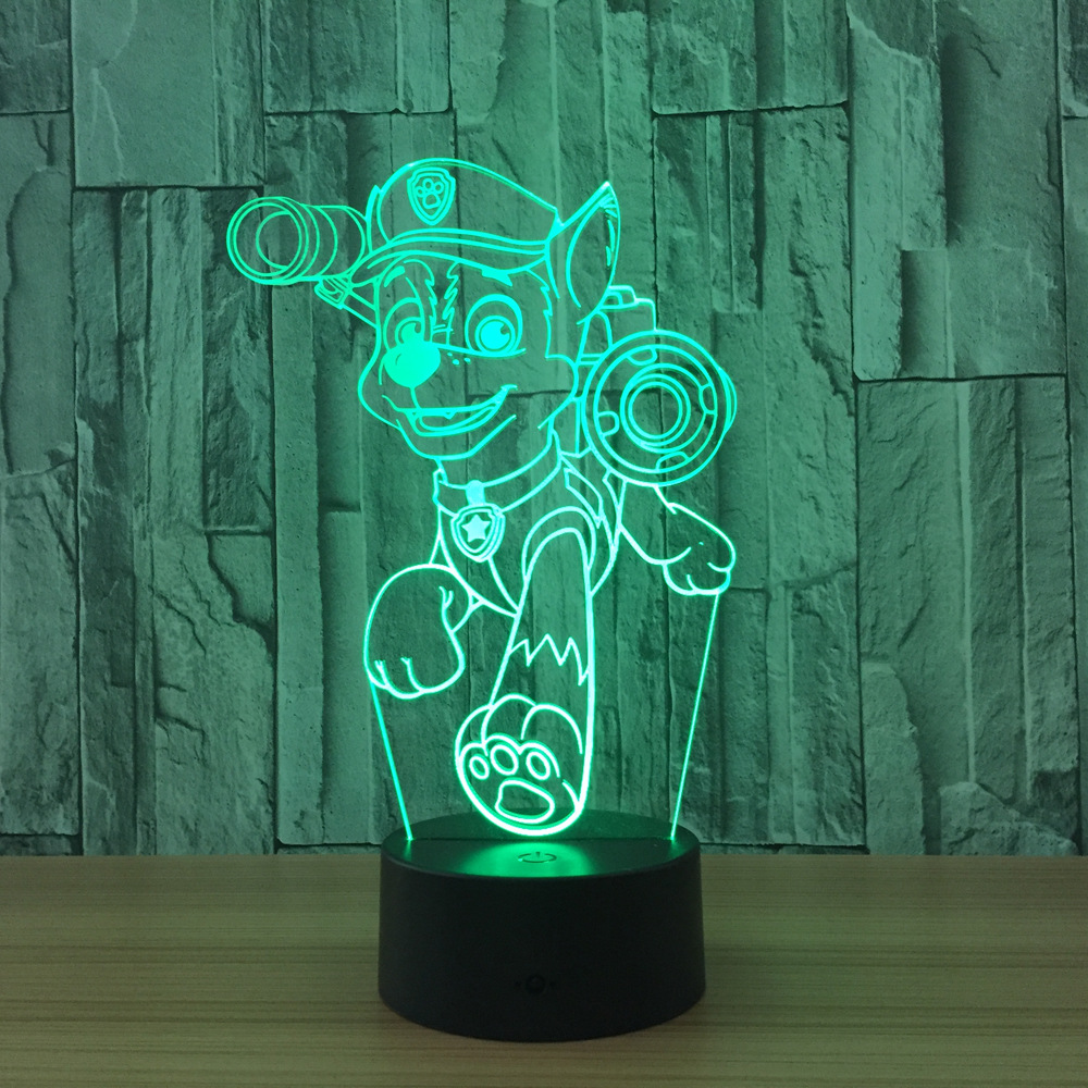 Cartoon 3D Light Touch LED Lamps Boys Girls Gift 3D Illusion Light Home  Atmosphere Lava Lamp Decoration With USB Cable