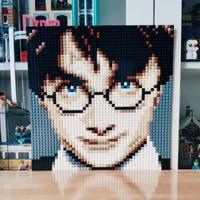 Pixel Art Mosaic Painting Harry Potter Portrait 50*50 Base Plate DIY Set Model Building Blocks Creative Christmas Gifts