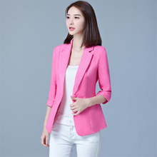 Blazers women 2019  spring and autumn new Korean version of the self-cultivation seven-point sleeve S-5XL casual blazers JD201