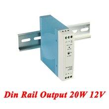MDR-20 Din Rail Power Supply 20W 12V 1.67A,Switching Power Supply AC 110v/220v Transformer To DC 12v,ac dc converter