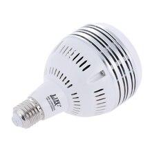 100 60 250 v 60 w led luz do dia equilibrado e27 5400 k lâmpada de modelagem estúdio para fotografia iluminação de vídeo