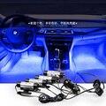 360 graus de rotação do carro Automotivo Luz Ambiente Livre modificado luzes interior do carro atmosfera de luz luz pé azul