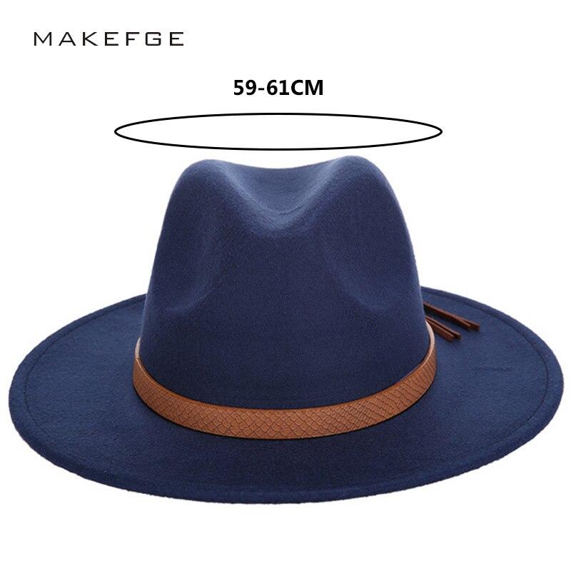b4b59667aa0 2018 New Fashion Luxury Brand Solid Color Fedoras Hat Man Woman Felt Hat  Autumn and Winte Wool Leather Bone Jazz Elegant Vintage