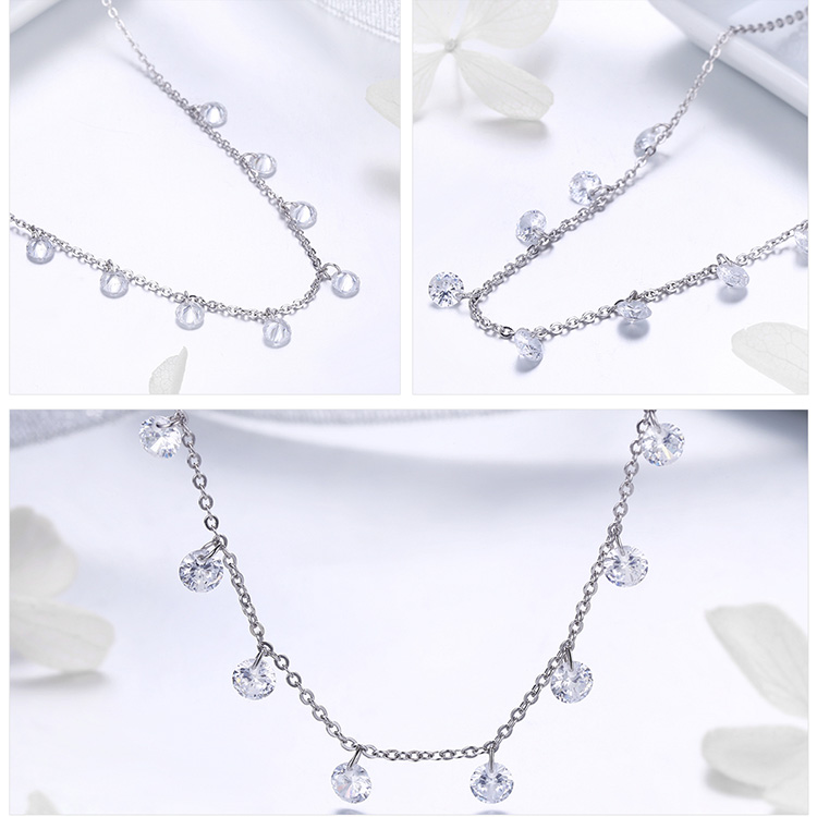HTB15vIyXjDuK1Rjy1zjq6zraFXa0 BAMOER Real 925 Sterling Silver Dazzling Cubic Zircon Round Circle CZ Pendant Necklaces for Women Sterling Silver Jewelry SCN299