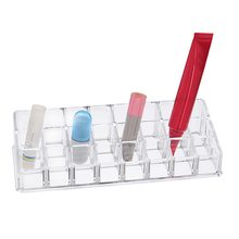 Hoomall 24 Grids Cosmetics Makeup Organizer Lip Gloss Lipstick Holder Rack Rangement Jewelry Storage Box 22x8.5x5cm(China)