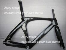 Полный углеродного волокна велосипед рама, трек неубирающимся одной скорости 3 К глянцевое покрытие на складе с вилкой и гарнитура