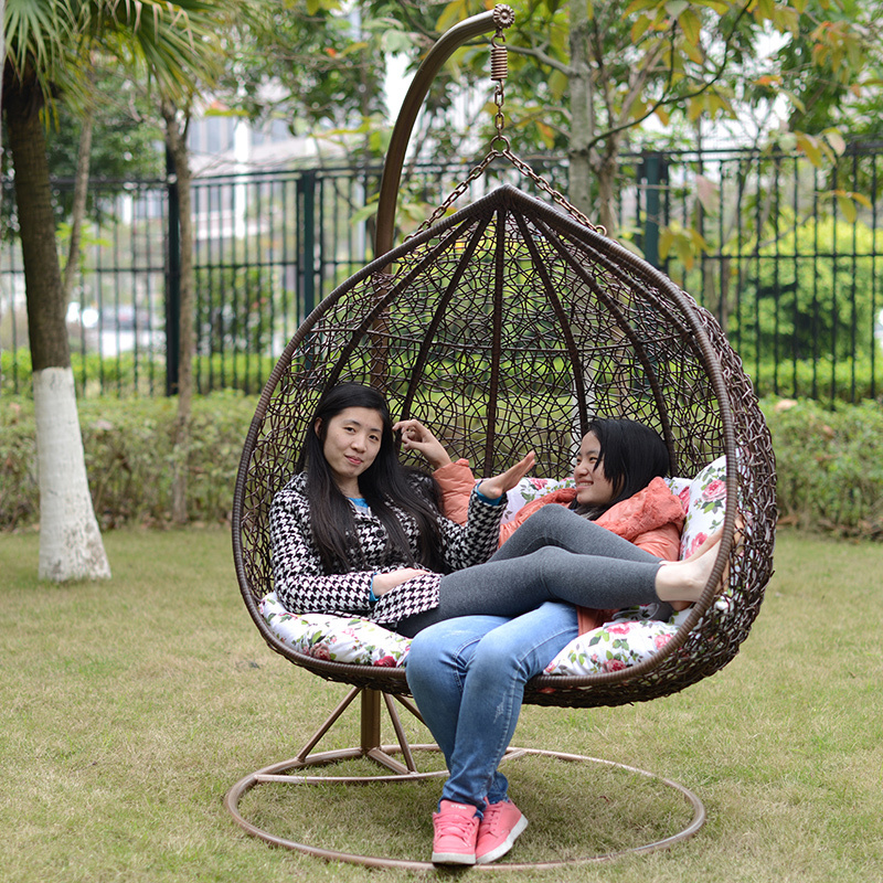 Jing Bamboo Basket Hanging Garden Patio Rocking Chair Swing Imitation  Wicker Chairs Outdoor Balcony Lounge Chair Double Chair Fr In Patio Swings  From ...