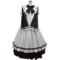 Anime Japanese black and white maid costume Lolita princess Cosplay Halloween Man Woman Cosplay Costume