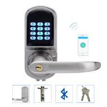 LACHCO совместимый со смартфонами через Bluetooth дверной замок с комбинированным атласным хромом с поддержкой Bluetooth код приложения смарт-вход Keyless A18071BSAP