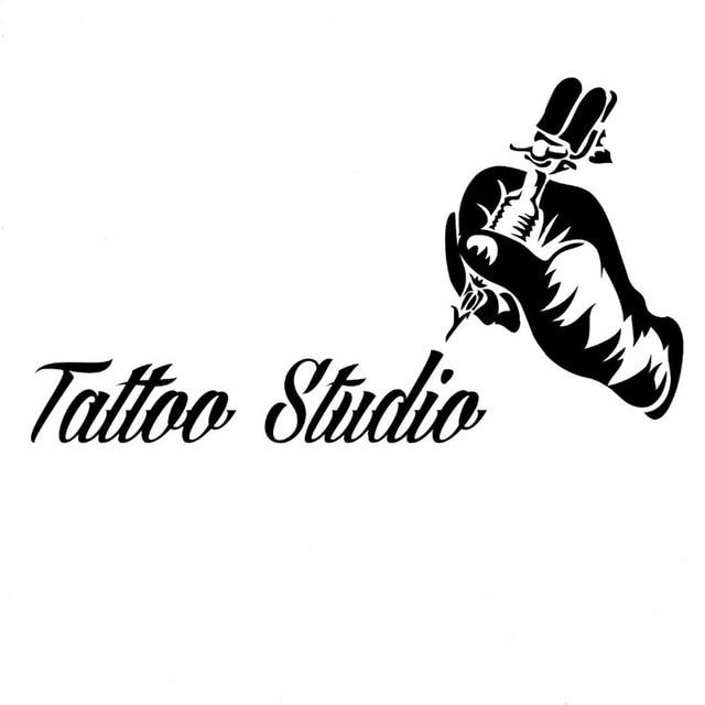 Tattoo Sign Wall Decals Tattoo Machine Vinyl Wall Stickers