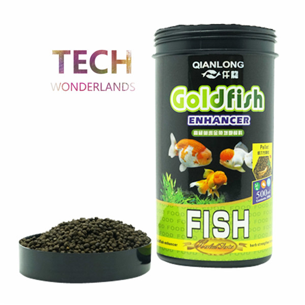 NEW Aquarium Ornamental Fish Feed Goldfish Food Enhancer Color Herb Pellet Slowly Settling Particles 500ml 290g