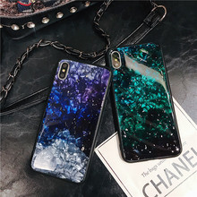 Fashion Epoxy Glitter Phone Case For iPhone XS Max XR X 7 8 Plus Shell Pattern Gold Foil Cover 10 6 6S