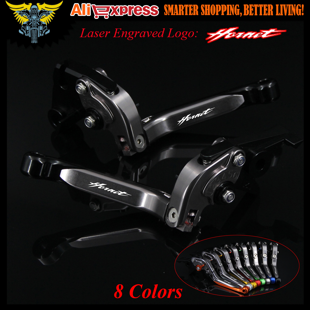 With New Logo (Hornet) For Honda CB 900 CB900 Hornet 2002 2003 2004 2005 2006 CNC Black Motorcycle Adjustable Brake Clutch Lever for honda cb400 2005 2016 cb600f hornet 1998 2000 cb750 2007 motorcycle windshield windscreen pare brise black