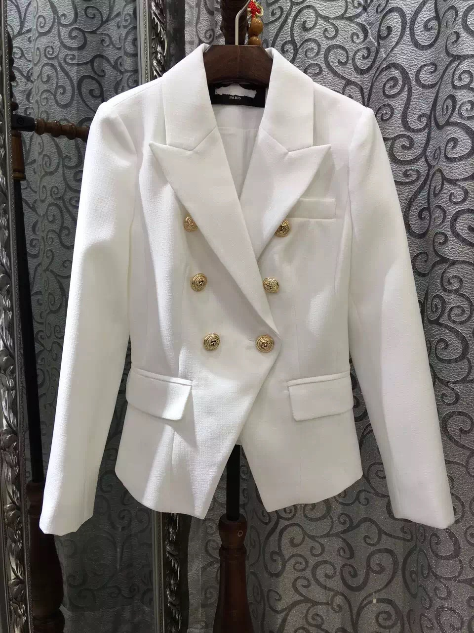 Online Buy Wholesale white blazer with gold buttons from China ...