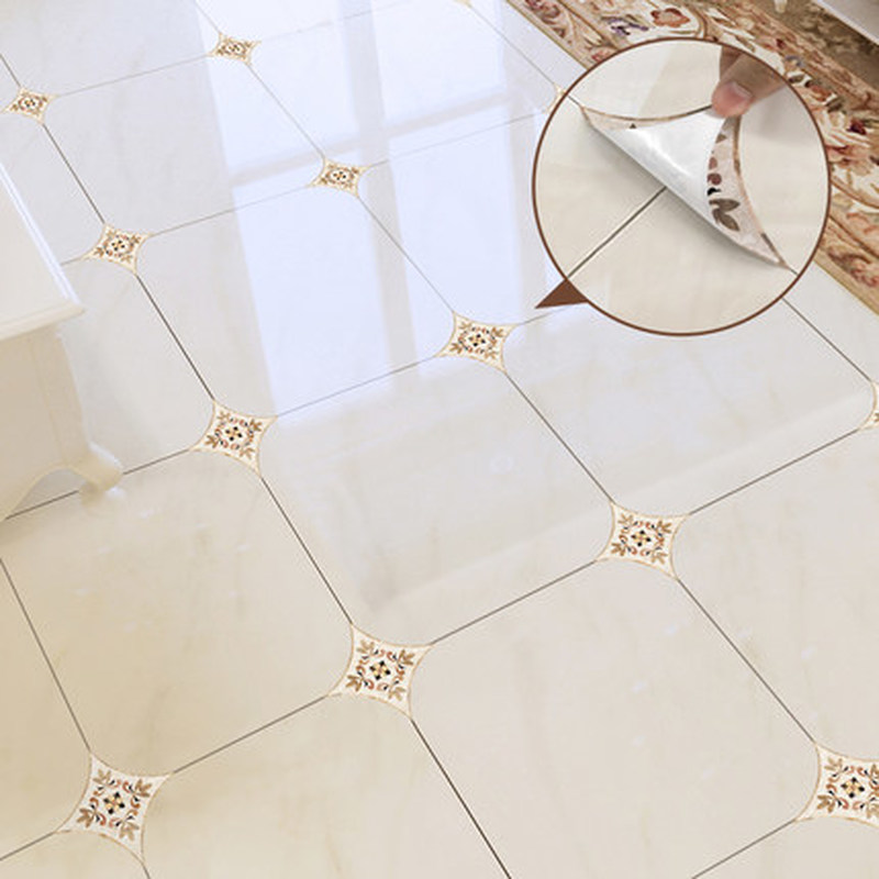 10pcs 12X12cm Self Adhesive Ceramic Tile Stickers Waterproof PVC Wallpaper Wall Art Diagonal 3D Floor Stickers Mural house decor in Wall Stickers from Home Garden