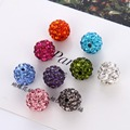 20pcs/pack 8/10 mm Bulk Rhinestone Crystal Round Spacer Loose Beads For Necklace Bracelet Charms Jewelry Making