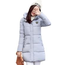 2016 New Winter Women Down Jacket Warm Thick Cotton-padded Coat Casual Outwear Female Slim Hooded Parkas Long Overcoat ZJ916