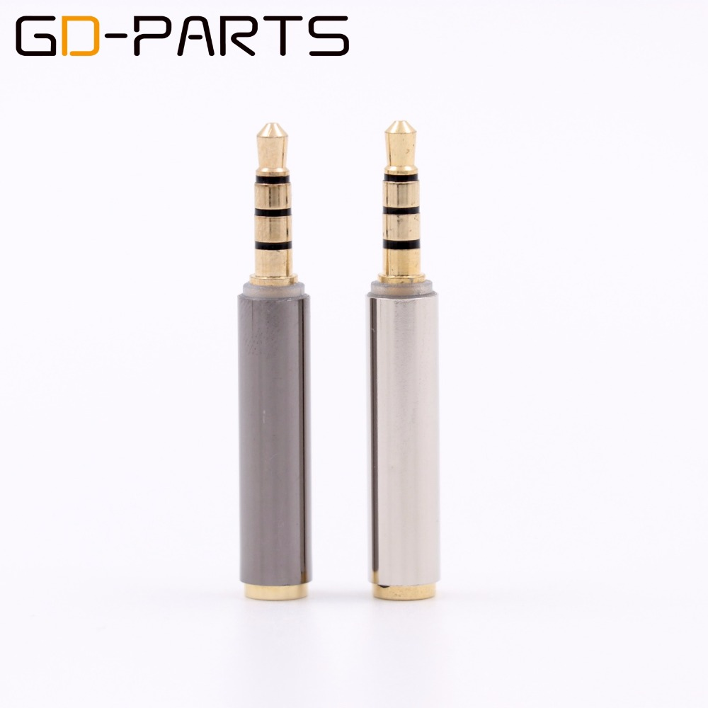 4 Poles Stereo 3.5mm Male to Female Headphone Adapter TRRS Earphone Plug Connector for iPhone Mobile Notebook Gold Plated