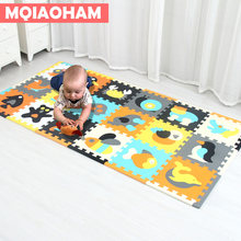 EVA Children's Foam Carpet Mosaic floor Developing Crawling Rugs 18pcs/set Puzzle Carpet Baby Play Mat Floor Puzzle Mat Hot Sale(China)