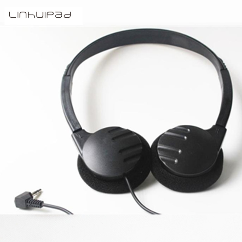 Linhuipad Inexpensive over head stereo headphone disposable headband headsets 1.2M cord for musuem,library ,hospital 200pcs/lot ...