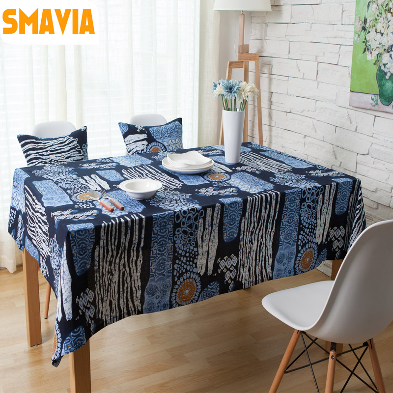 Dirty Kitchen Table: SMAVIA Bohemia Style Dining Tablecloth Cotton Linen Fabric