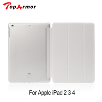 TopArmor 18 Colors Case For Apple Ipad 2 3 4 Magnetic Auto Wake Up Sleep Flip