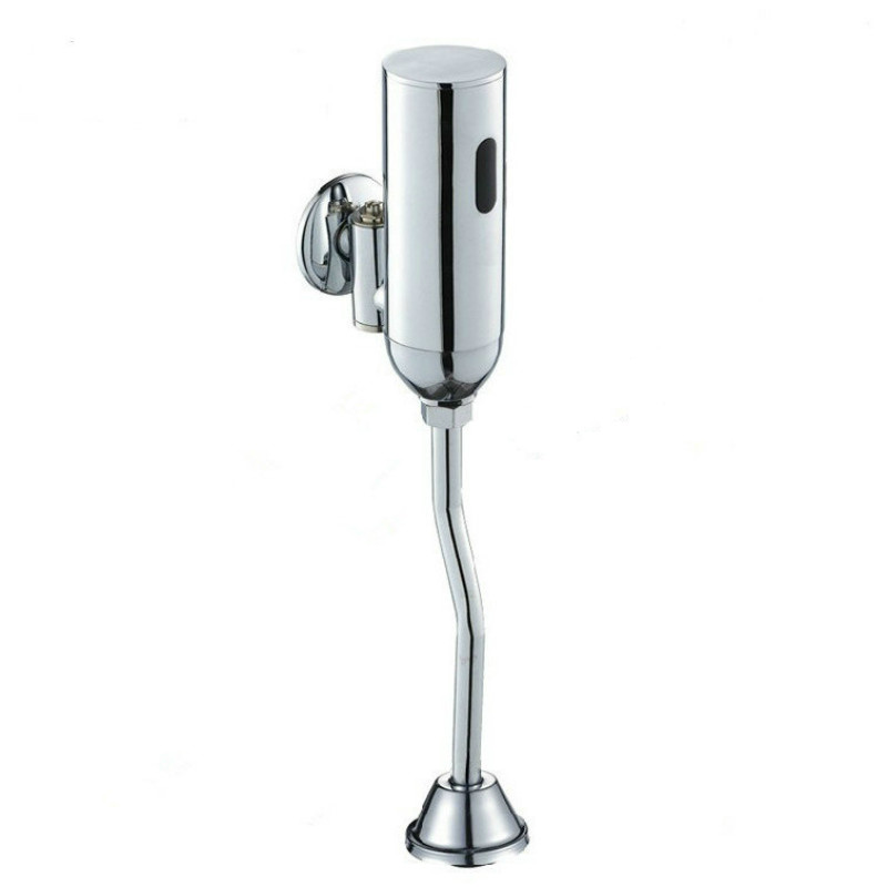 toilet flush valve sensor Toilet Automatic Flush Valve Urinal Flushometer Polished Chrome jd коллекция светло телесный 12 пар носков 15d две кости размер