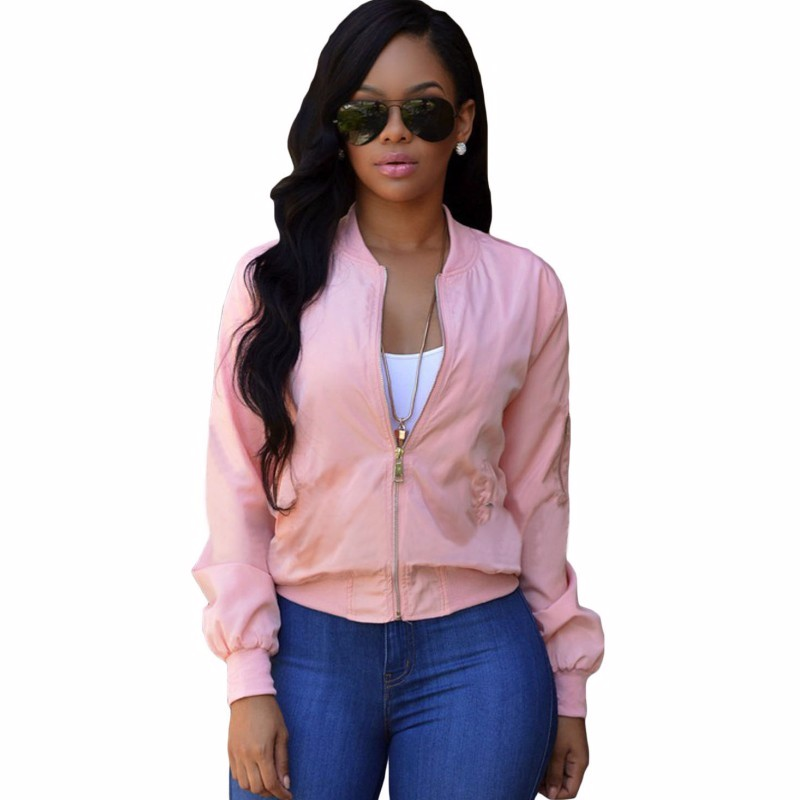 Pink-Pocket-Sleeve-Cropped-Bomber-Jacket-LC85032-10-1_conew1