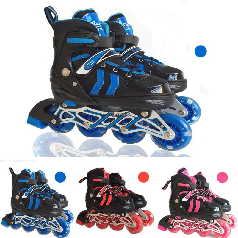 Adjustable Professional Adult Sliding/Slalom Inline Skates Shoes Roller Skating Shoes Roller Skate Shoes S/M/L Inline Skating