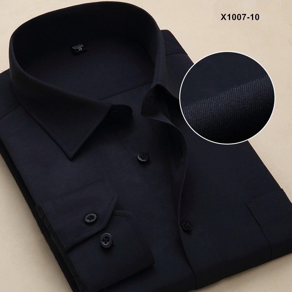Новое поступление мужская одежда повседневные рубашки с длинными рукавами мужские рубашки с отложным воротником мужские рубашки однотонные рубашки для мужчин - Цвет: PM100710