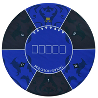 Texas Hold'em Poker Mat 1.2*1.2m round table flower pattern rubber gaming mat