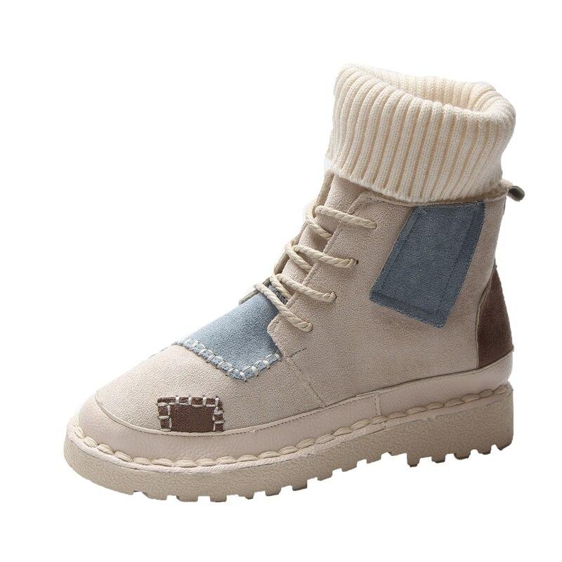 Niñas Las Yoylap negro khaki Zapatos Otoño Beige De Botas Nueva Moda Para La Mujer gris Mujeres Calcetines E Invierno Señoras Nieve U1xF7qwOU