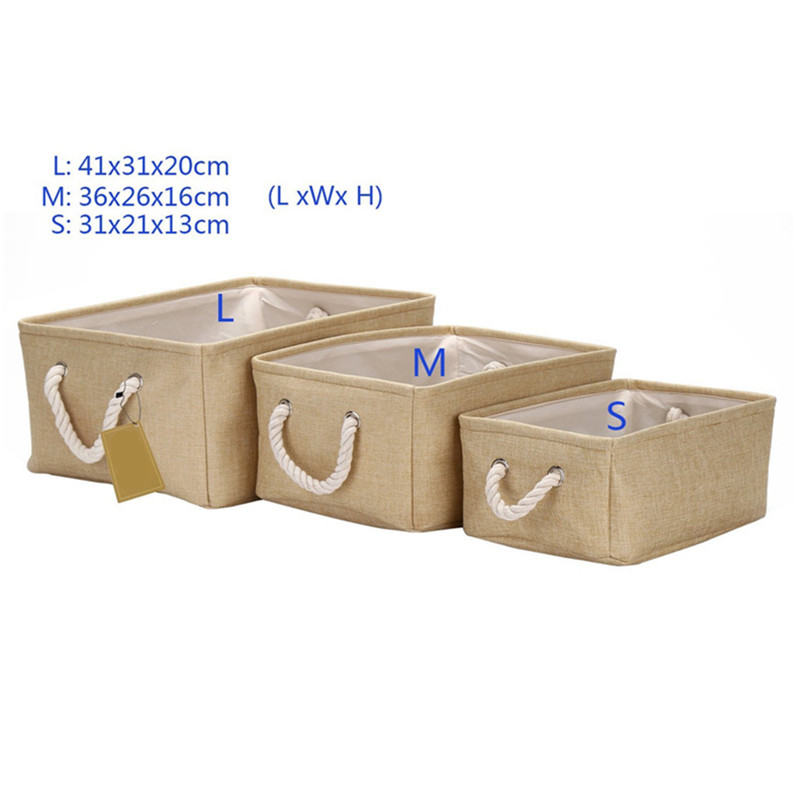 Superieur Collapsible Rectangular Fabric Storage Bin Organizer Basket With Handles  For Clothes Storage,Toy Organizer,Pet Toy Storing In Storage Boxes U0026 Bins  From Home ...