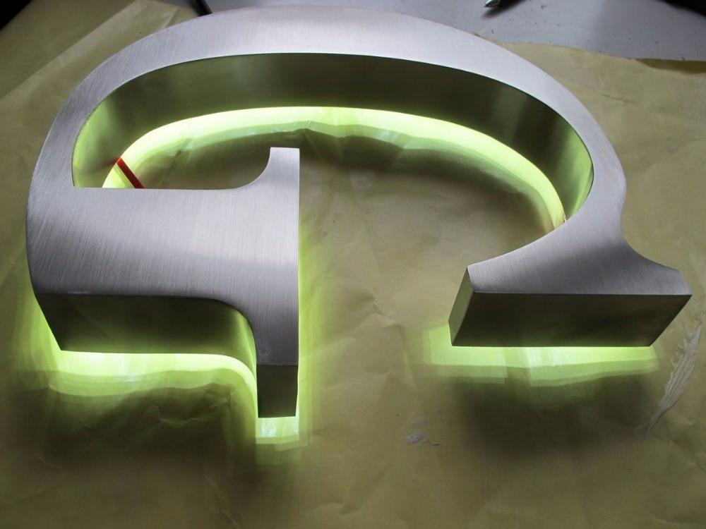 Factory Outlet Stainless Steel LED Backlit Shop Name