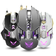 Wired Gaming Mouse Mechanical Computer PC Mouse Mice 4000DPI 7 Buttons LED Backlight for PUBG LOL overwatch DOTA2