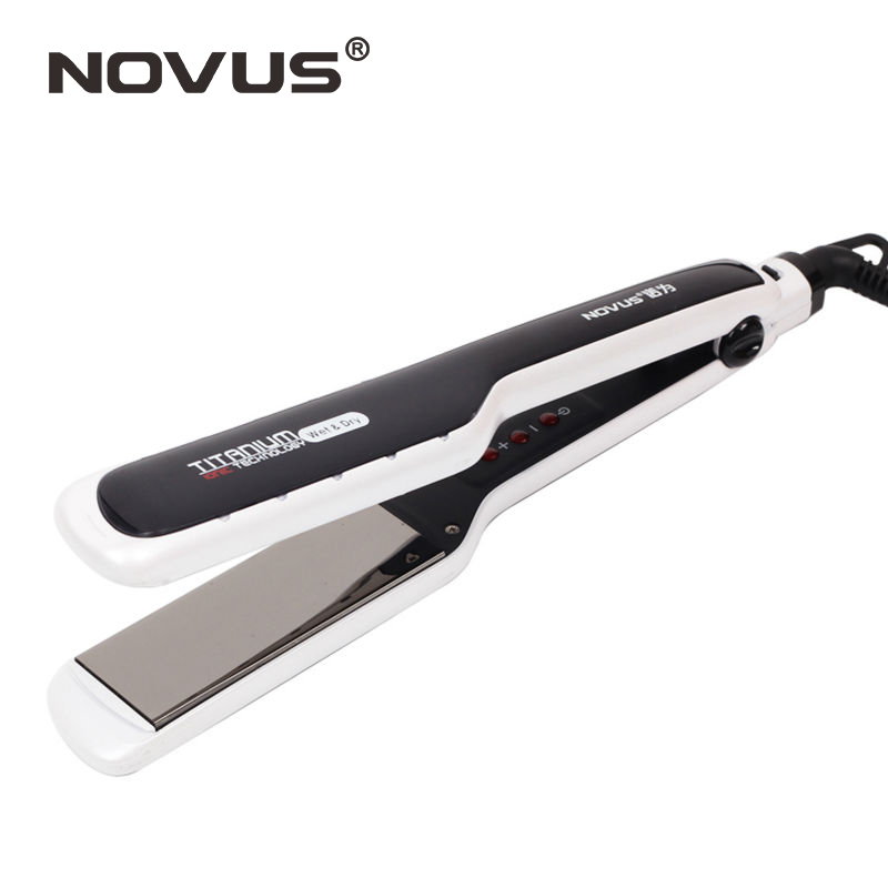 Professional Hair Straightener Titanium wide plates LED display Chapinha Flat Iron Straightening Irons planchas styling tools