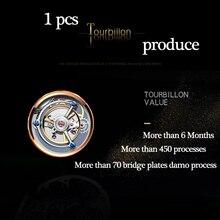 Guanqin 100% Real Tourbillon Mechanical Watch Men Wrist Mens Watches Top Brand Luxury Skeleton Watch Clock Man Relogio Masculino