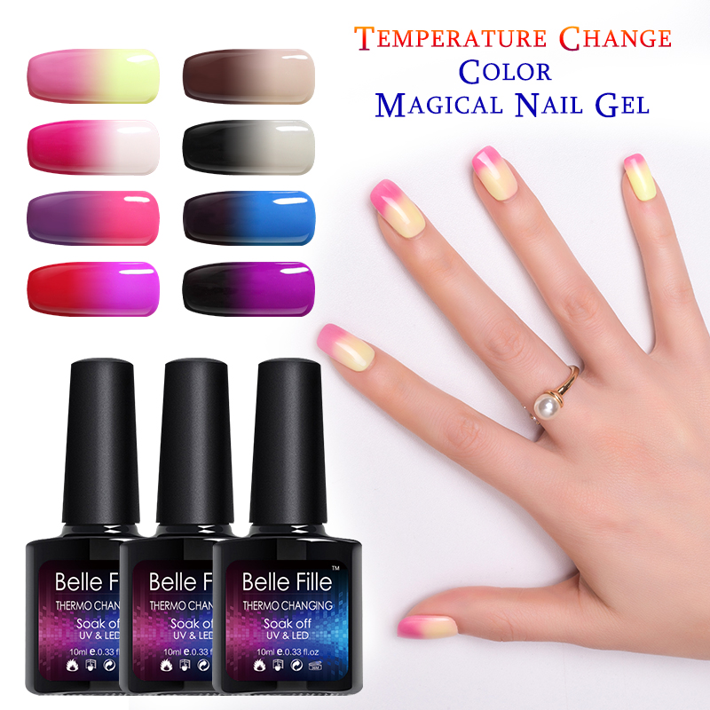 BELLE FILLE Thermo Changing UV Gel Nail Polish