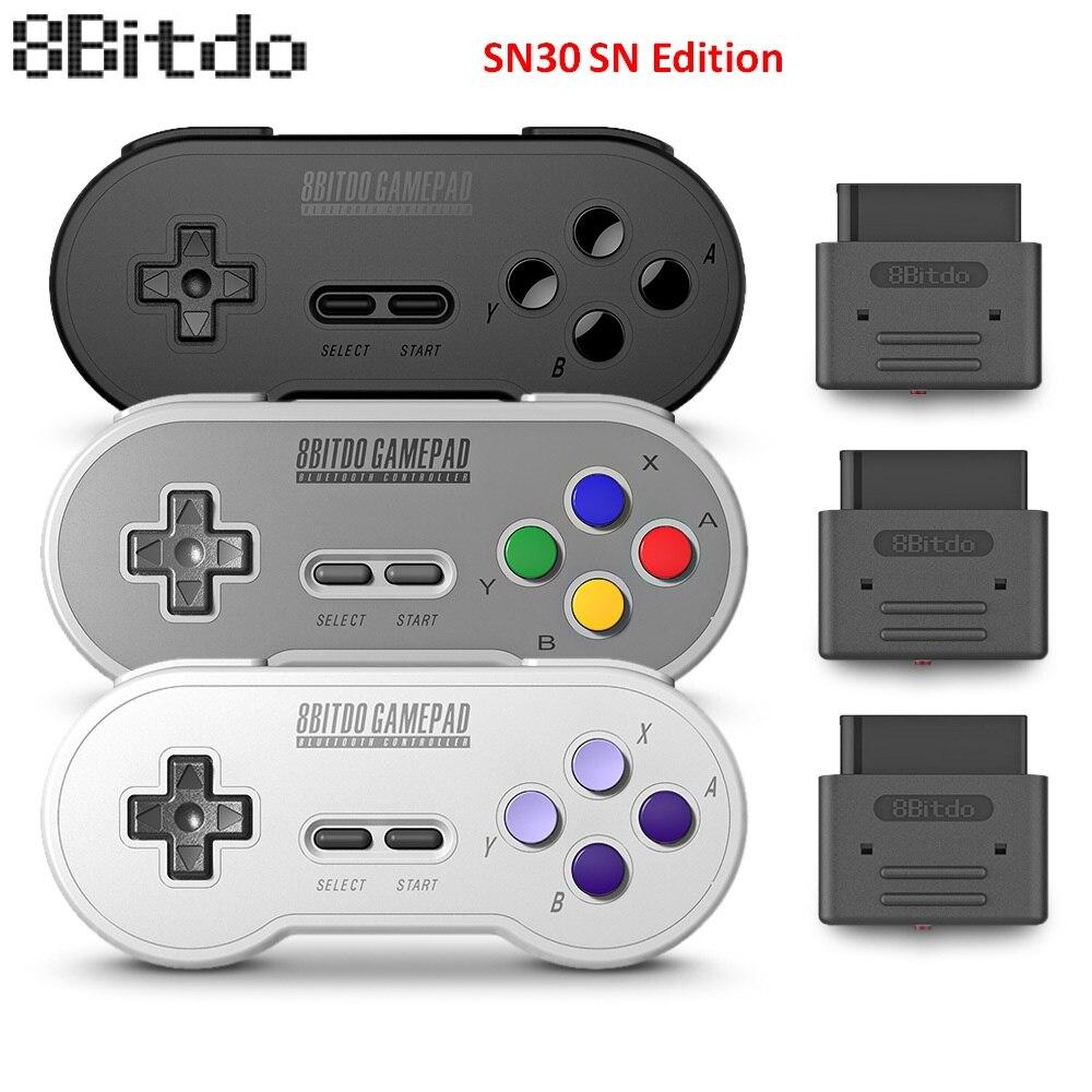 8bitdo SN30 SN Version Rétro Sans Fil Contrôleur Gamepad avec Récepteur Bluetooth pour Windows Android macOS Vapeur Nintendo